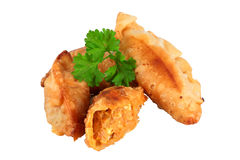 Tuna patties. Pasties homemade stuffed with tuna trimmed and isolated Stock Images