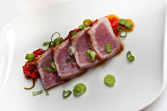 Tuna and peppers Stock Photos