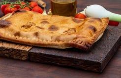 Tuna Pie Piatto gallego tipico Galizia e Spagna Con gli ingredienti naturali immagini stock libere da diritti