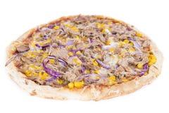 Tuna Pizza (au-dessus du blanc) Images stock
