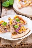 Tuna Pizza casalinga Fotografia Stock