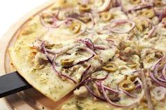 Tuna Pizza Royalty Free Stock Photography
