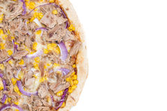 Tuna Pizza (over white) Royalty Free Stock Photography