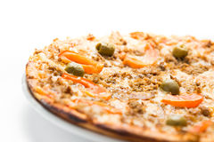 Tuna pizza Stock Image