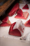 Tuna raw sliced fish store at Tsukiji sea food market Stock Image