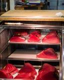 Tuna raw sliced fish store at Tsukiji sea food market Stock Images