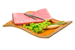 Tuna raw steak Royalty Free Stock Images