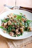 Tuna and rocket salad Royalty Free Stock Images