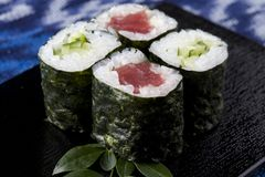 Tuna roll and Cucumber roll Stock Photo