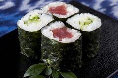 Tuna roll and Cucumber roll Stock Photo