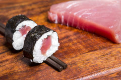 Tuna rolls Royalty Free Stock Photos