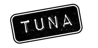 Tuna rubber stamp Stock Image