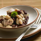 Tuna salad. Warm tuna salad with beans Stock Image