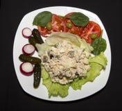 Tuna Salad auf Kopfsalat Lizenzfreie Stockfotos