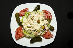 Tuna Salad auf Salatbett Lizenzfreie Stockfotografie