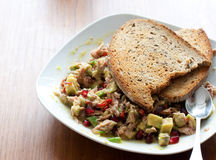 Tuna salad with avocado Royalty Free Stock Images