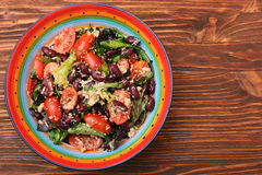 Tuna salad with beans and cherry tomatoes Stock Image