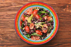 Tuna salad with beans and cherry tomatoes Stock Images