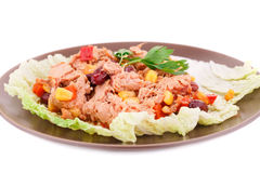 Tuna salad. With beans and corn Stock Image