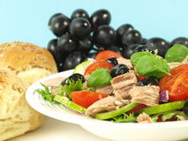Tuna salad with bread Stock Photography