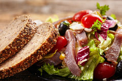 Tuna salad with bread Royalty Free Stock Image