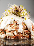 Tuna salad with cabage and sprout Royalty Free Stock Photos