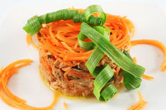 Tuna salad with carrots Stock Photos