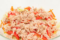 Tuna salad,Closeup. Healthy tuna salad,Closeup food Stock Images