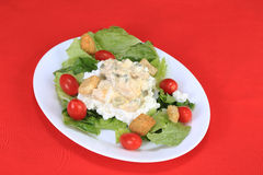 Tuna Salad on Cottage Cheese Stock Photos