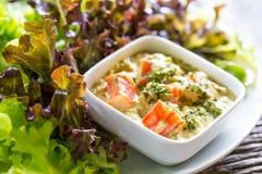 Tuna salad with crab sticks Royalty Free Stock Image
