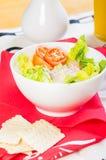 Tuna salad with crackers Royalty Free Stock Photo