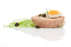 Tuna with salad, eggs and capers. Stock Images