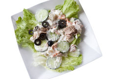 Tuna salad with isolated background Royalty Free Stock Photography