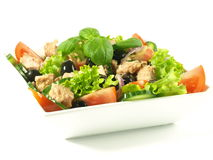 Tuna salad on isolated background Stock Image