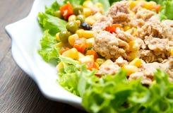 Tuna salad with mais Stock Image