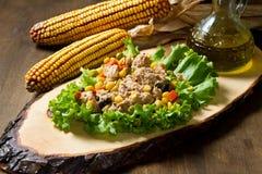 Tuna salad with mais Stock Photos
