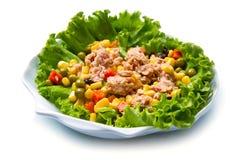 Tuna salad with mais Stock Photo