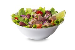 Tuna salad with olives and capers Stock Photo