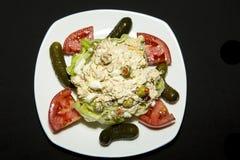 Tuna Salad op Bed van Sla Royalty-vrije Stock Fotografie