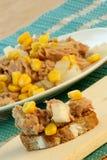tuna salad with organic corn Stock Image