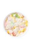 Tuna Salad In Plastic Bowl. Stockbild