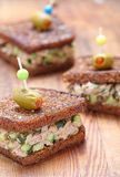 Tuna salad sandwich Royalty Free Stock Images