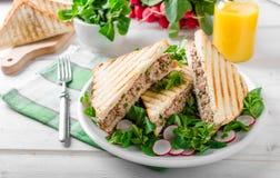 Tuna salad sandwitch Royalty Free Stock Photos