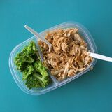 Tuna Salad on Transparent Lunch Pack Royalty Free Stock Image