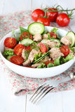Tuna salad with vegetables Royalty Free Stock Image