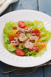 Tuna salad on white plate Stock Image