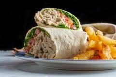 Tuna Salad Wrap Sandwich Stock Images