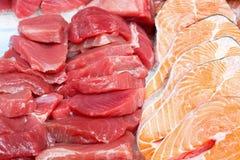 Tuna and salmon Royalty Free Stock Image