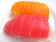 Tuna and Salmon Sushi Stock Photos