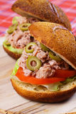 Tuna sandwich Royalty Free Stock Image